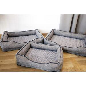 Gepolstertes Hundebetten-Set 3-teilig Grau