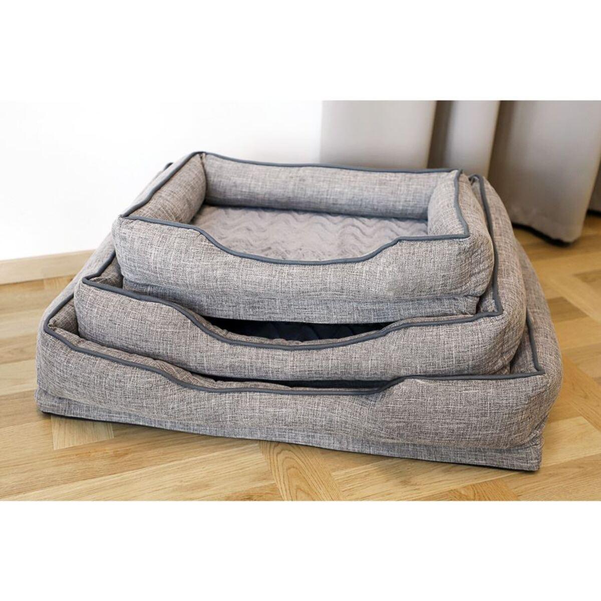 Bild 2 von Gepolstertes Hundebetten-Set 3-teilig Grau
