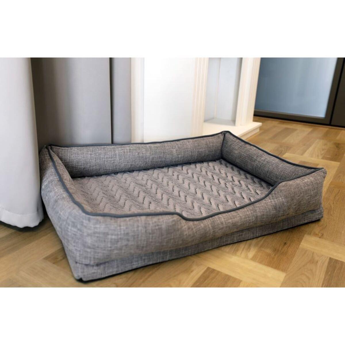 Bild 3 von Gepolstertes Hundebetten-Set 3-teilig Grau