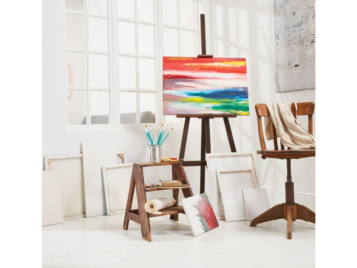 Bild 2 von CRELANDO® Leinwand Set, 5-teilig, aus Baumwollgewebe, mit Holzrahmen