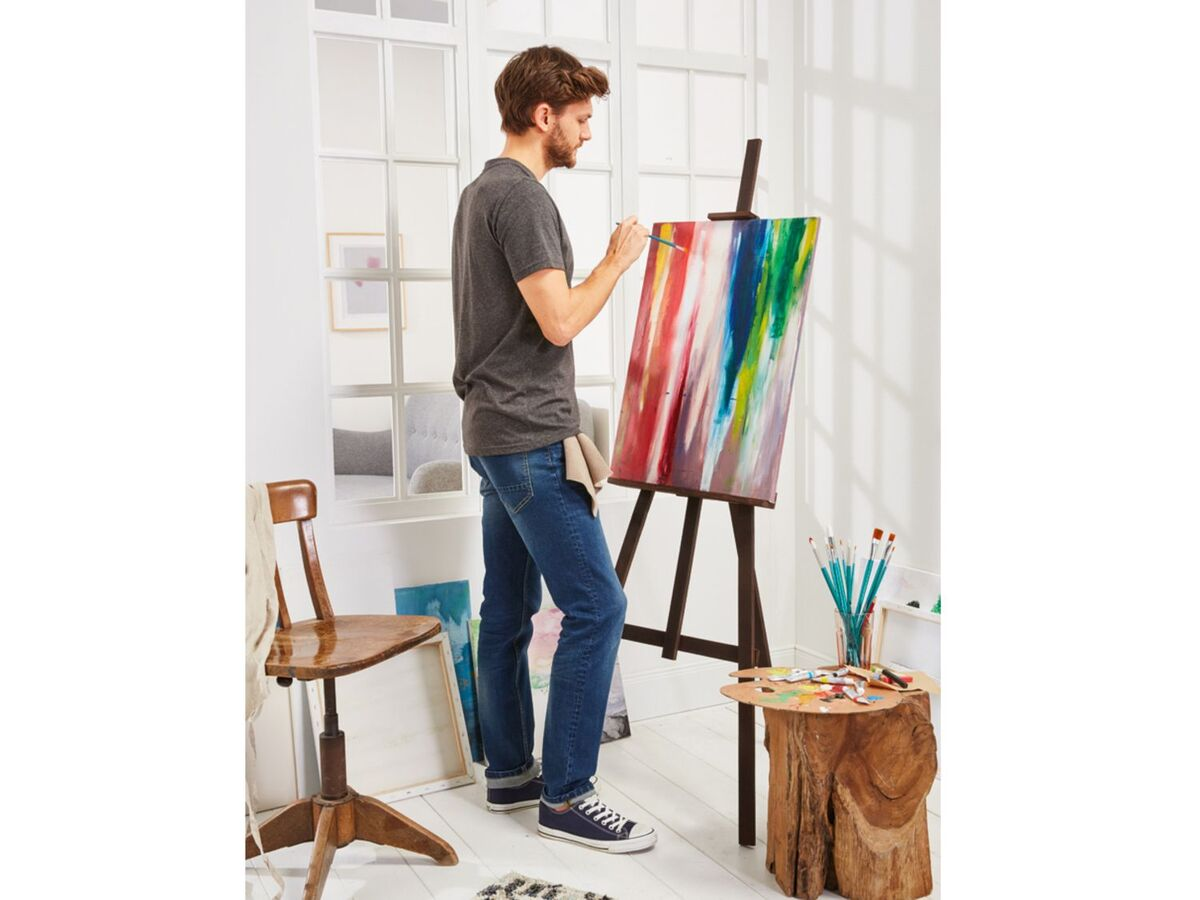 Bild 3 von CRELANDO® Leinwand Set, 5-teilig, aus Baumwollgewebe, mit Holzrahmen