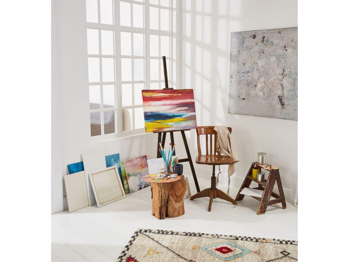 Bild 4 von CRELANDO® Leinwand Set, 5-teilig, aus Baumwollgewebe, mit Holzrahmen