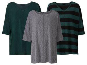 ESMARA® Strickshirt Damen, mit Fledermausärmeln, verlängerte Rückenpartie, mit Viskose