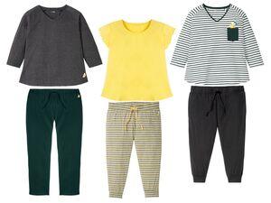 ESMARA® Lingerie Pyjama Damen, mit Stickerei, Hose mit elastischem Bund, mit Baumwolle