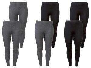ESMARA® Leggings Damen, 2 Stück, mit Baumwolle und Elasthan