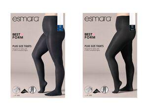 ESMARA® Feinstrumpfhose Damen, 3 Stück, in Plus-Size, mit Baumwollzwickel