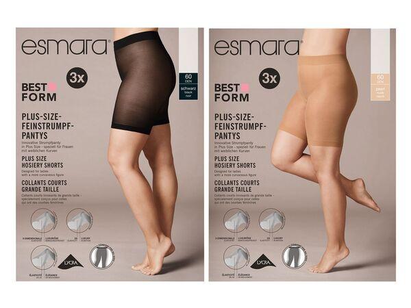 ESMARA® Strumpf-Panty Damen, 3 Stück, Plus Size, mit Elasthan