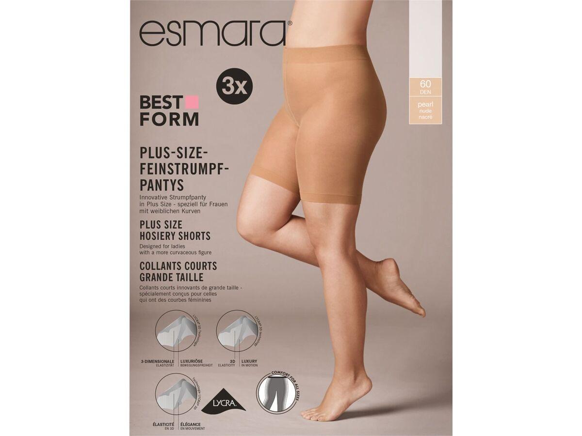 Bild 4 von ESMARA® Strumpf-Panty Damen, 3 Stück, Plus Size, mit Elasthan