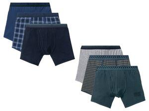 LIVERGY® Boxershorts Herren, 3 Stück, mit Baumwolle und Elasthan