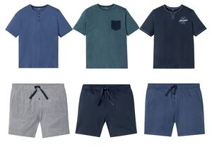 LIVERGY® Pyjama Herren, mit Eingrifftaschen, elastischer Bund, Bindeband, mit Baumwolle