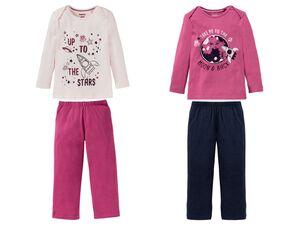 LUPILU® Kleinkinder Pyjama Mädchen, 2-teilig, aus reiner Biobaumwolle