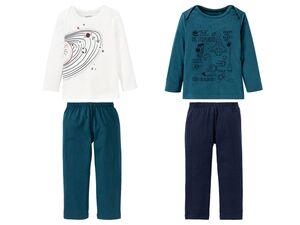 LUPILU® Kleinkinder Pyjama Jungen, 2-teilig, aus reiner Biobaumwolle