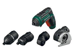 PARKSIDE® Akkuschrauber »PAS4«, 4 Aufsätze, Lithium-Ionen Akku, integrierte LED-Leuchte