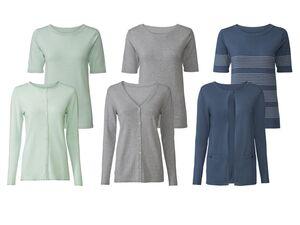 ESMARA® Twin Set Damen, mit Cardigan, Pullover, 1/2-Ärmel, hoher Viskoseanteil
