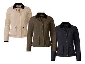 ESMARA® Jacke Damen, mit Cordkragen, Reißverschluss, mit Baumwolle, wasserabweisend