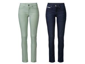 ESMARA® Jeans Damen, schmal geschnitten, 5-Pocket-Style, hoher Baumwollanteil, mit Elasthan