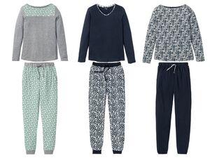 ESMARA® Lingerie Pyjama Damen, mit Eingrifftaschen, Gummizugbund, hoher Baumwollanteil