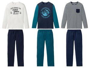 LIVERGY® Pyjama Herren, 2-teilig, aus reiner Biobaumwolle