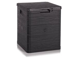 FLORABEST Gartenbox, Holz-Optik, 90 Liter Fassungsvermögen, mit Tragegriffen