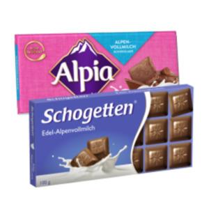 Schogetten oder Alpia Schokolade