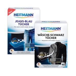 Heitmann Wäsche-Schwarz-/ Jeans-Blau Tücher