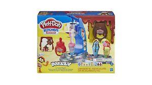 Hasbro - Play-Doh Drizzy Eismaschine mit Toppings, inklusive Play-Doh Drizzle Knete und 6 Play-Doh Farben