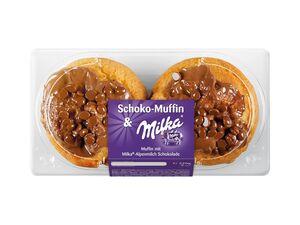 Milka Schoko-Muffin mit Alpenmilchschokolade