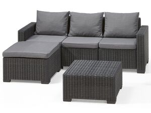 Allibert Lounge Set »Moorea«/ »California«, 3-teilig, Rattanoptik, 110 kg Belastbarkeit