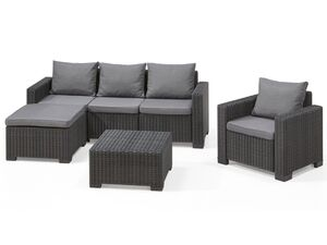 Allibert Lounge Set »Moorea«/ »California«, 4-teilig, Rattanoptik, 110 kg Belastbarkeit