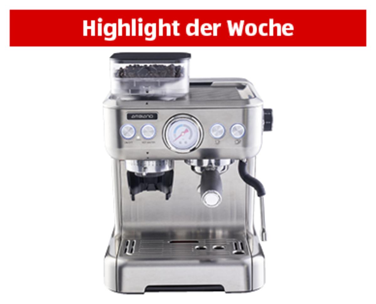 Bild 1 von AMBIANO®  Espresso-Maschine mit integriertem Mahlwerk