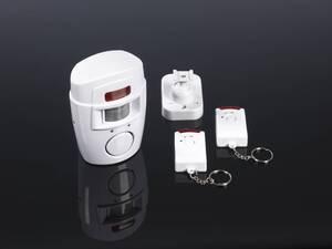 Bewegungsmelder Alarm mit 2 Fernbedienungen Easymaxx