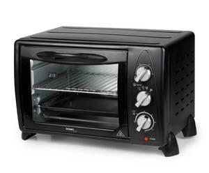 Mini-Backofen, Grill-Ofen, mit Drehspieß DO450GO, 21 Liter, 1380 Watt, Schwarz Domo