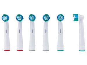 NEVADENT® Zahnbürstenköpfe, 6 Stück, mit Wellenschnitt der Filamente