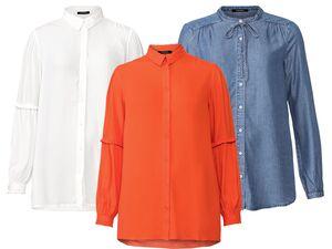 ESMARA® Bluse, mit Steh- oder Kentkragen, anschmiegsam und weich