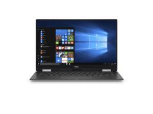 DELL XPS 9365, Convertible mit 13 Zoll Display, Core™ i7 Prozessor, 8 GB RAM, 256 GB SSD, Intel® UHD-Grafik 615, Schwarz, Silber
