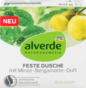 alverde NATURKOSMETIK Feste Dusche mit Minze-Bergamotte-Duft