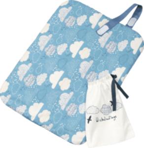 ALANA Wickelunterlage, in Bio-Baumwolle und recyceltem Polyester, blau, weiß, Wolken
