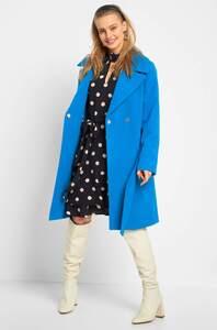 Mantel mit großem Kragen