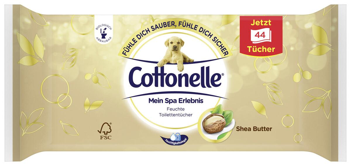 Bild 2 von Cottonelle Feuchtes Toilettenpapier Mein Spa Erlebnis Shea Butter Nachfüllpackung 44 Stück
