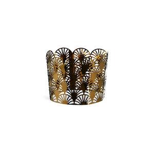 Metallbanderole Artdeco, D:17,5cm x H:5,5cm, gold