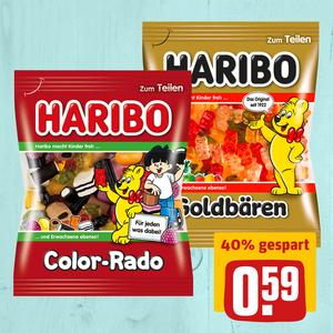 Haribo Goldbären oder Color-Rado Fruchtgummi