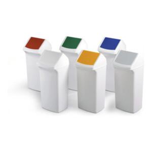 Durable Abfallbehälter SQUARE 40l Weiß/Gelb