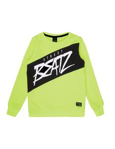 Jungen Sweatshirt in Neonfarbe mit Message-Print