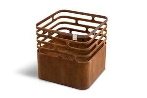 Höfats Feuerschale Cube rostig