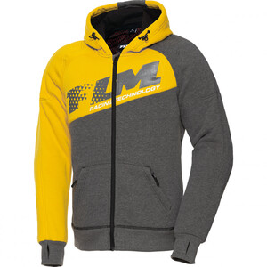 FLM            Sports Hoodie mit Protektoren 1.0 grau/gelb