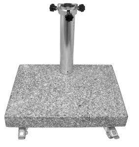 LIRO Sonnenschirmständer Balkon Granitständer 25kg
