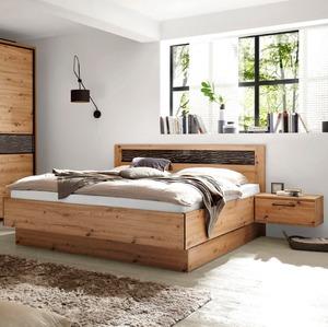 Bett mit Nachttischen Solid 180 x 200 cm