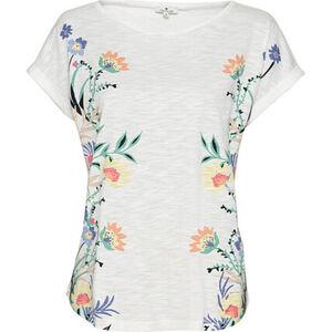 Tom Tailor T-Shirt, Ausbrenner, fixierte Ärmelsäume, Rundhalsausschnitt, für Damen