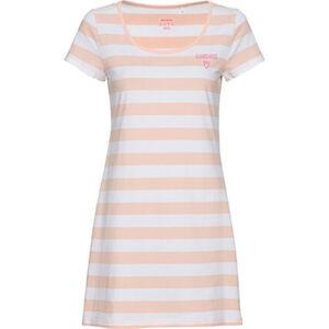 manguun Nachthemd, Kurzarm, Rundhals, für Damen