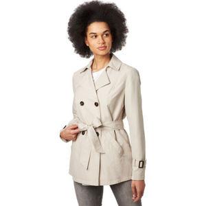 manguun Trenchcoat, kurze Passform, Bindegürtel, für Damen